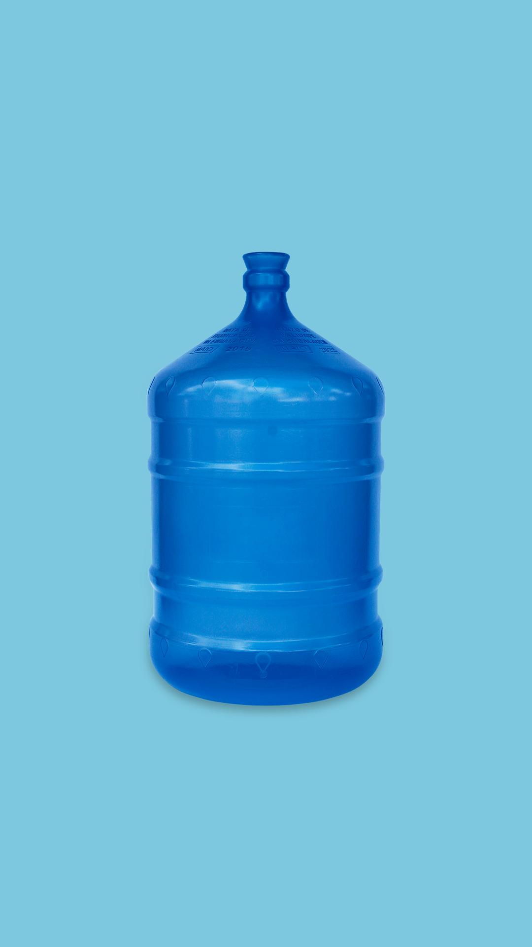 Galão de 20 litros PP azul para água mineral Plástico São Pedro