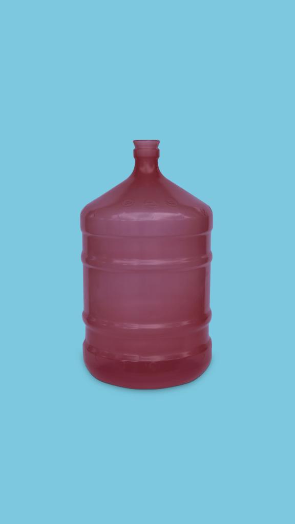 Galão de 20 litros PP rosa para água mineral Plástico São Pedro
